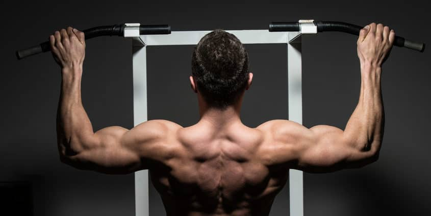 bodybuilder-working-on-back-muscles